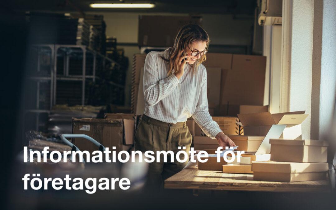 Inbjudan: Företagarträff 10 oktober